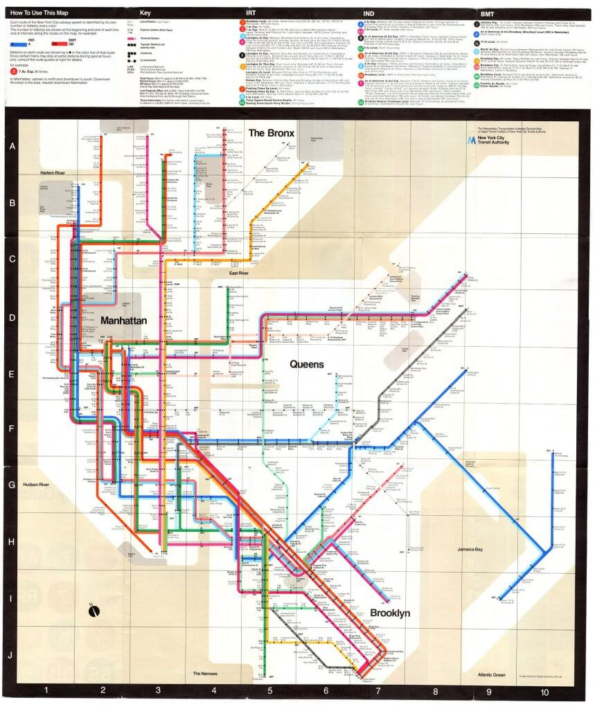 Vignelli 的紐約地下鐵地圖